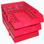 Red Letter IN/OUT Filing Trays